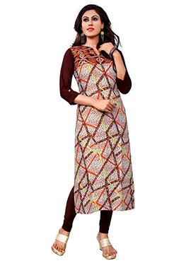 Tricolor Rayon Cotton Kurti