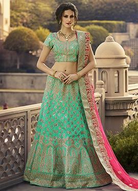 Turquoise Green Lehenga Choli