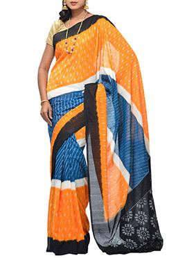 Uppada Multicolored Handloom Cotton Saree