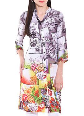 Uptown Galeria Multicolored Cotton Kurti