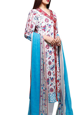 Uptown Galeria Multihue Lawn Cotton Pakistani Suit