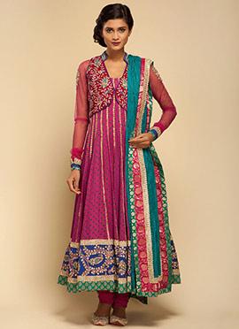 Vemanya Pink Anarkali Suit