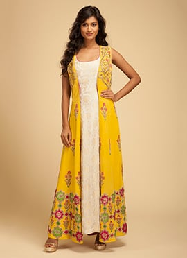 Vemanya Yellow Churidar Suit