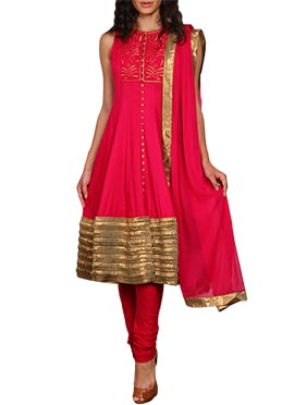 Vijay Balhara Red Anarkali Suit