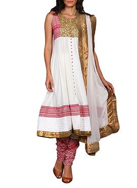 Vijay Balhara White Anarkali Suit