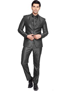 Viscose Black Lapel Style Suit