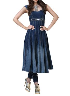 Vishala Shree Dark Blue Anarkali Suit