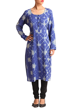 Wabi Sabi Blue Cotton Kurti