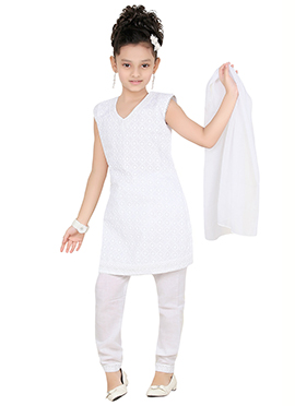 White Churidar Suit