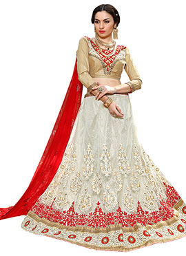 White Embroidered Lehenga Choli