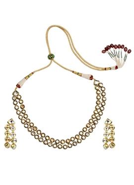 White Kundan Necklace