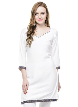 White Lingra Kurti