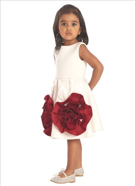 White Neoprene Kids Dress