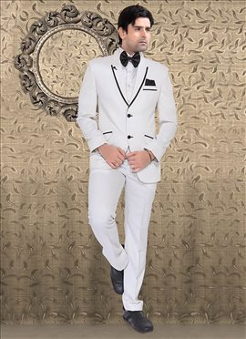 White Terry Rayon Suit