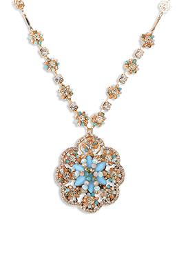 Yazuri Multicolored Stones Studded Necklace