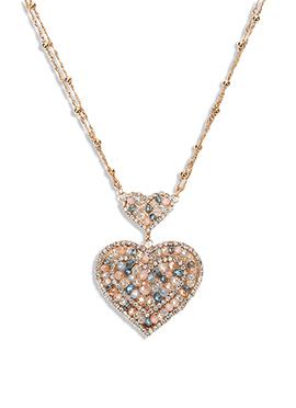 Yazuri Stones N Crystals Studded Necklace