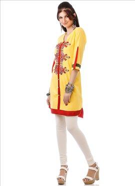 Yellow Cotton Kurti