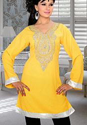 Yellow Georgette Kurti