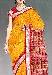 Yellow Handloom Pure Assam Silk Saree