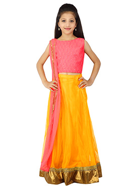 Yellow K And U Lehenga Choli