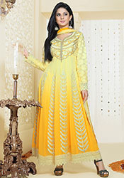 Yellow Kumud Ankle Length Anarkali Suit
