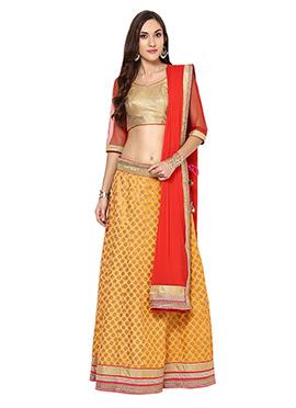 Yellow N Red anice Lehenga Choli Home India