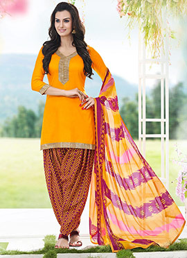 Yellow Patiala Suit