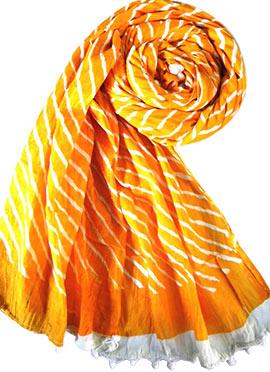 Yellow Raw Silk Stole
