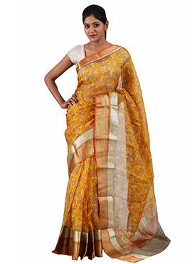 Yellow Sailesh Singhania Pure Kota Silk Saree