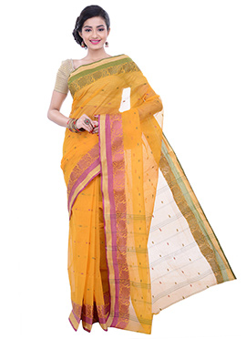Yellow Shade Cotton Saree