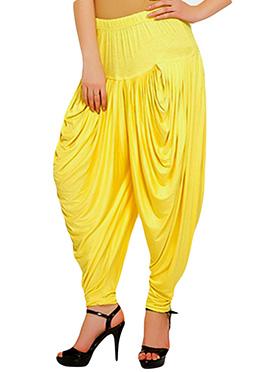 Yellow Viscose Harem Pants