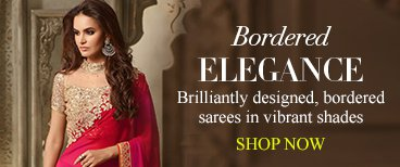 Elegant Bordered Saree