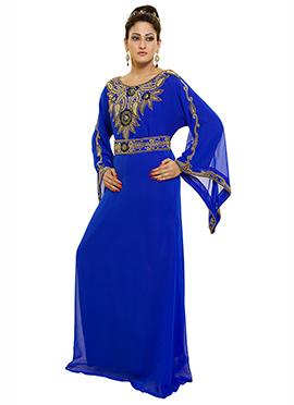 Blue Georgette Fustan