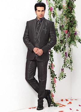Blue Lapel Style Suit