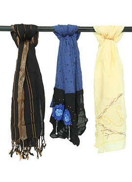 3 in 1 Blended Cotton Stole Combo