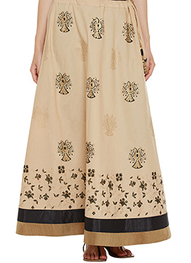 9rasa Beige Cotton Skirt