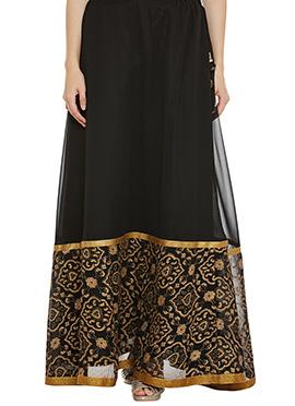 9rasa Black Polyester Skirt