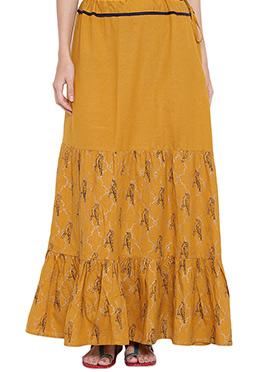 9rasa Mustard Viscose Skirt