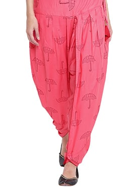 9rasa Pink Cotton Dhoti Pant