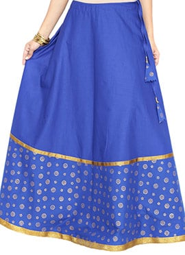 9rasa Royal Blue Cotton Skirt