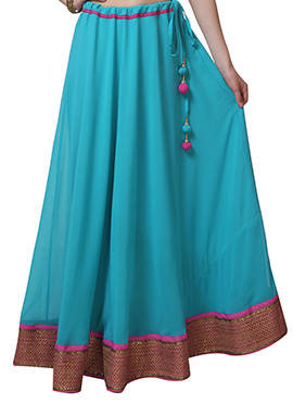 9rasa Sky Blue Georgette Skirt