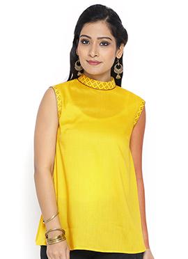 9rasa Yellow Cotton Tops
