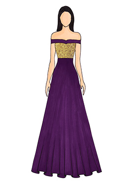 A Light Purple Floor Length Gown That Features An