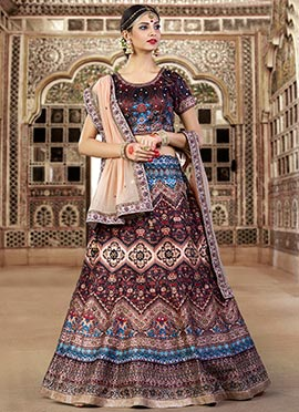 Ae Dil Hai Mushkil Dark Brown Lehenga Choli