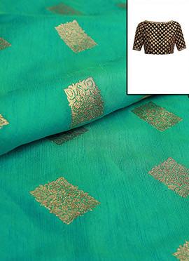 Aqua Blue Art Silk Blouse