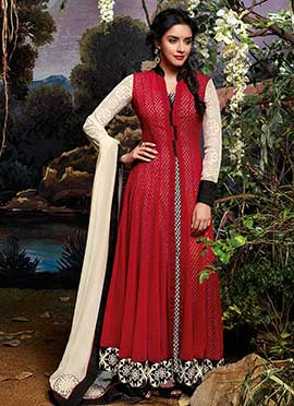 Asin Regal Red Anarkali Suit