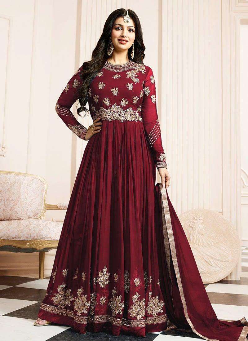 586c80390e Buy Ayesha Takia Red Georgette Anarkali Suit, Zari , Stones ...