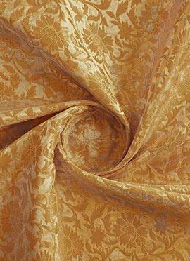 Beige Art Silk Brocade Fabric