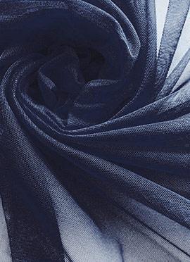 Navy Blue Net Fabric