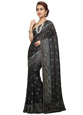 Black Pure Silk Saree